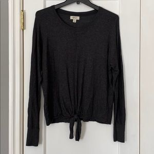 Style & Co Tie-Front Sweater